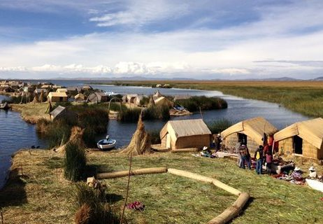 Uros islands in Lake Tititcaca