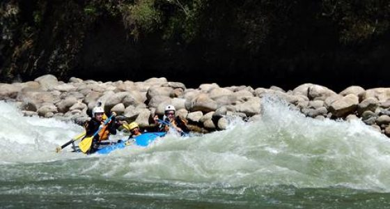 Rafting on the Urubamba River