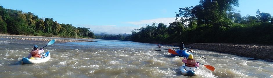 Rain forest rafting adventure