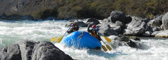 Magnus rafting the Apurimac River
