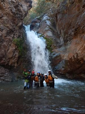 Apurimac river Sumaro waterfall