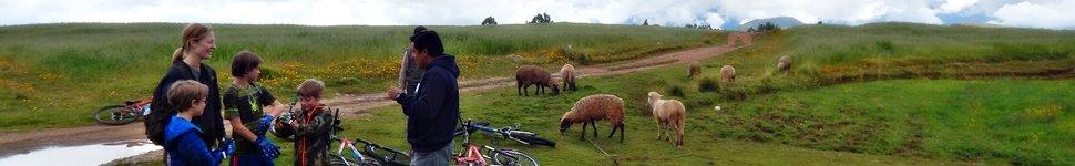 Family listening mountain biking briefing