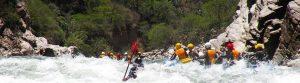 Running rapid Apurimac river