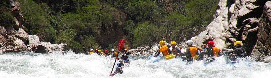 Running rapid Apurimac river