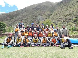 Group picture after rafting