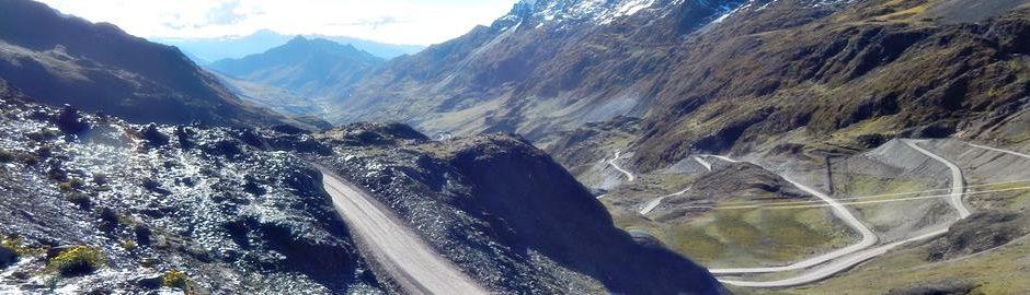 Lares mountain biking road