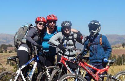 Girls after mountain biking