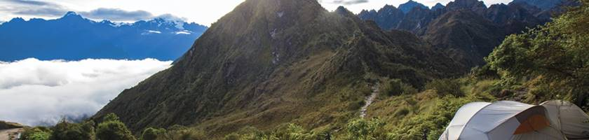 Camping near Machu Picchu