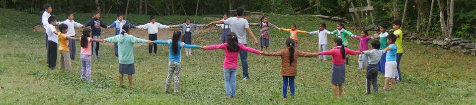 Happy kids at jungle schol