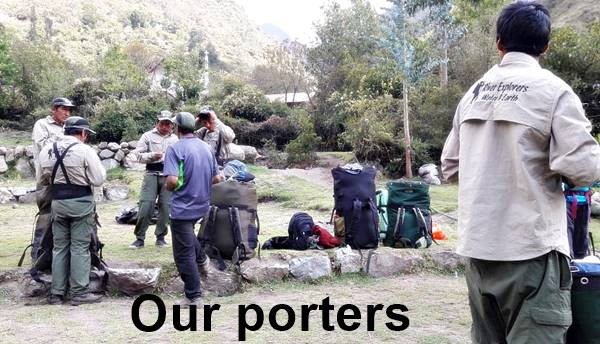 Porters at the Inca Trail