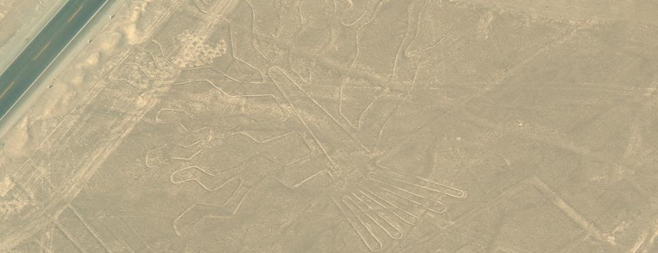 Drawing at Nasca lines south Lima