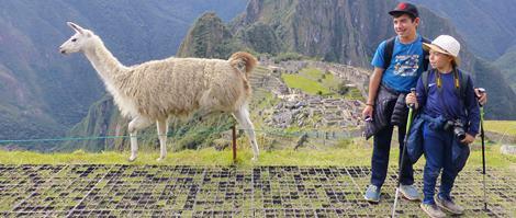 Kids Viewing Machu Picchu
